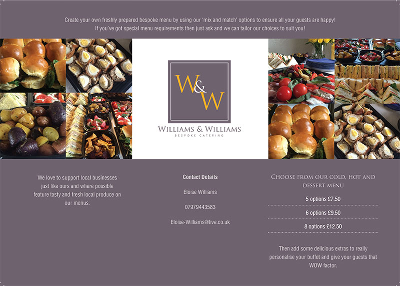 Learn more about the W & W Catering menu and choice selection